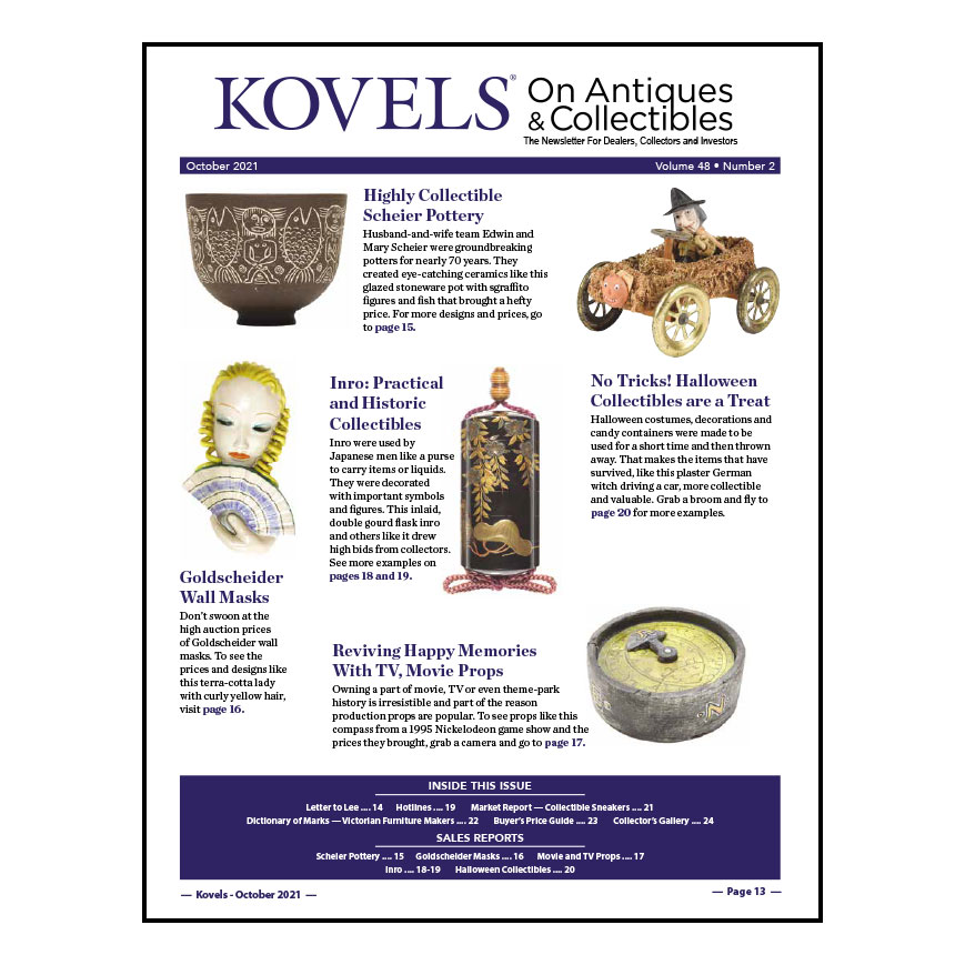 Kovels On Antiques & Collectibles October 2021 Newsletter