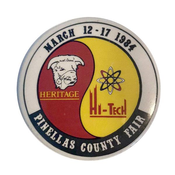 pinellas florida county fair 1984 button pin