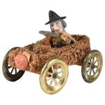 halloween witch driving car