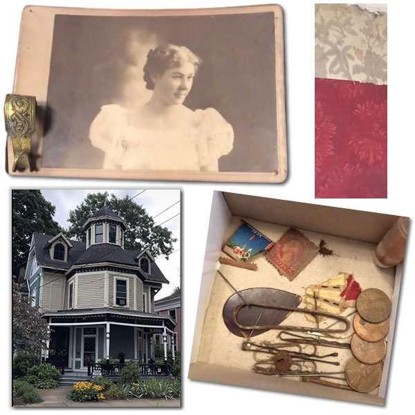 photo hook lipstick stamps pennies ins pick wallpaper items found in connecticut victorian house restoration 1800s