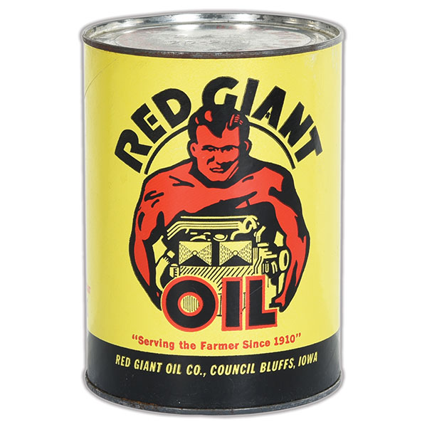 red giant motor oil can