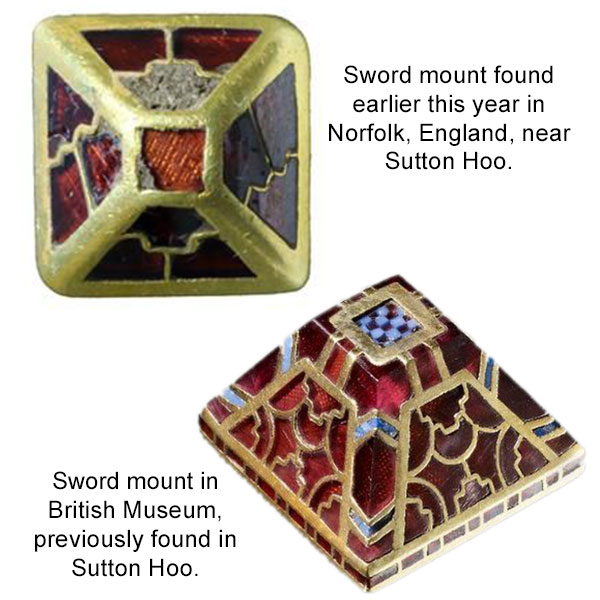 medieval pyramid sword mounts england