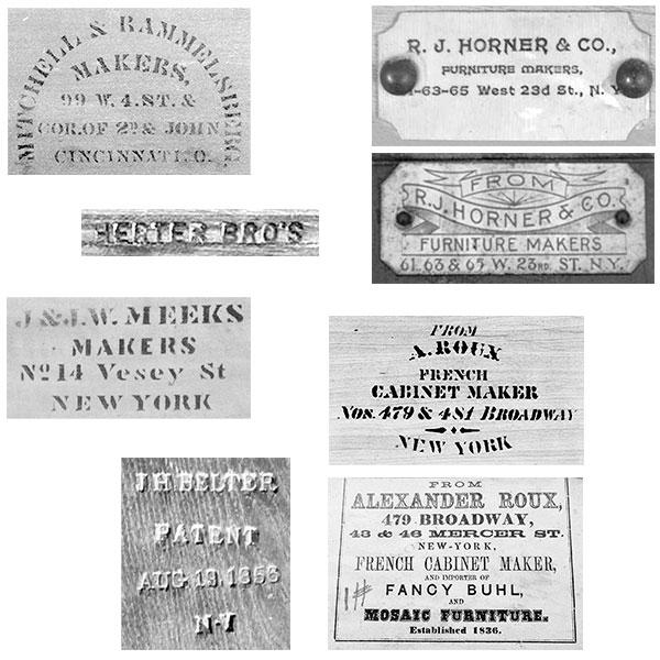 marks on victorian furniture